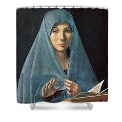 The Annunciation Shower Curtain by Antonello da Messina