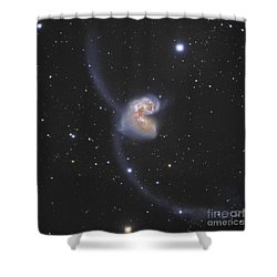 The Antennae Galaxies Shower Curtain by Robert Gendler