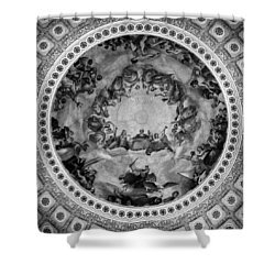The Apotheosis Of Washington In Black And White Shower Curtain