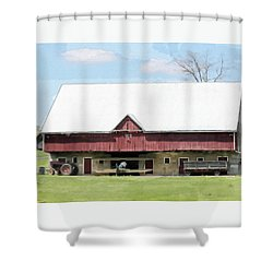The Apple Barn Shower Curtain