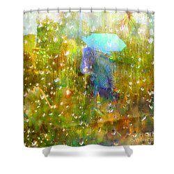 The Approach Of Autumn Shower Curtain
