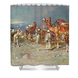 The Arab Caravan   Shower Curtain by Italian School