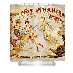 The Arabian Nights Burlesque Shower Curtain