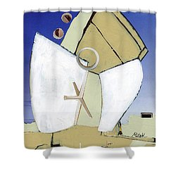 Shower Curtain featuring the painting The Arc by Michal Mitak Mahgerefteh