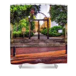 The Arch 4 University Of Georgia Arch Art Shower Curtain