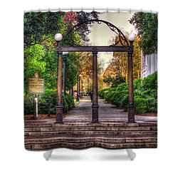The Arch University Of Georgia Arch Art Shower Curtain