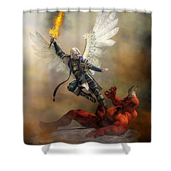 The Archangel Michael Shower Curtain