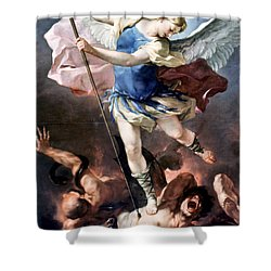 The Archangel Michael Shower Curtain by Granger