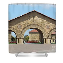 The Arches At Stanford Shower Curtain by Mini Arora