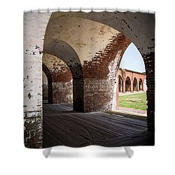 The Arches Of Fort Pulaski Shower Curtain