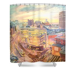 The Arndale Carpark, Manchester Shower Curtain