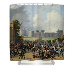 The Arrival Of Louis-philippe Shower Curtain by Edouard Pingret