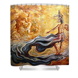 The Arrival Of The Goddess Of Consciousness Shower Curtain by Darwin Leon