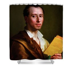 The Art Historian Shower Curtain by Georgiana Romanovna