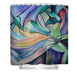 The Art Of Belly Dance Shower Curtain by Tracey Harrington-Simpson