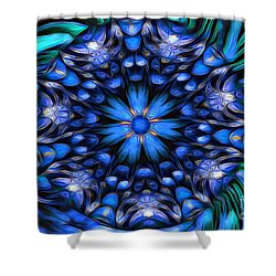 The Art Of Feeling Centered Shower Curtain by Mary Lou Chmura