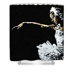 The Art Of Grace Shower Curtain by Richard Young