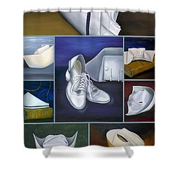 Shower Curtain featuring the painting The Art Of Nursing by Marlyn Boyd