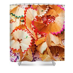 The Art Of Pencil Shavings Shower Curtain