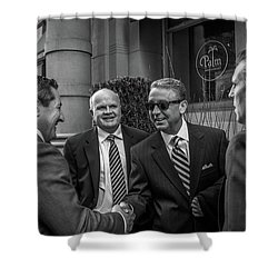 The Art Of The Deal Shower Curtain by David Sutton