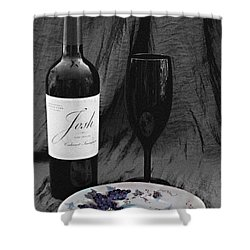 The Art Of Wine And Grapes Shower Curtain by Sherry Hallemeier