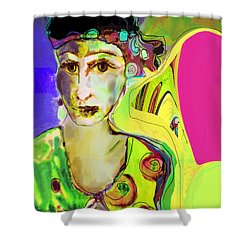 The Artist In Fauve Working Artist Shower Curtain