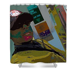 the artist - MARINE CORPORAL kenneth james Shower Curtain