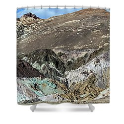 Shower Curtain featuring the photograph The Artists Palette Death Valley National Park by Michael Rogers