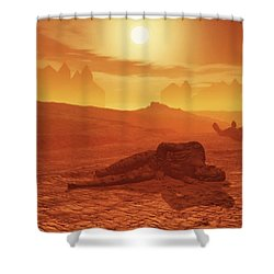 The Ash Vessels Shower Curtain
