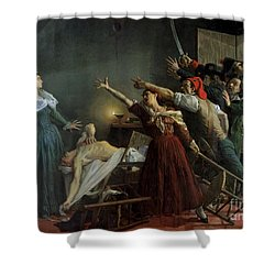 The Assassination Of Marat Shower Curtain by Jean Joseph Weerts