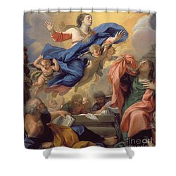 The Assumption Of The Virgin Shower Curtain by Guillaume Courtois