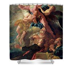 The Assumption Of The Virgin Shower Curtain by Jean Francois de Troy