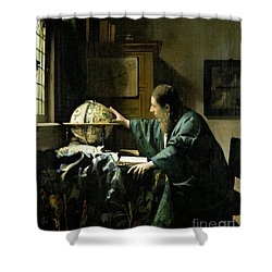 The Astronomer Shower Curtain by Jan Vermeer