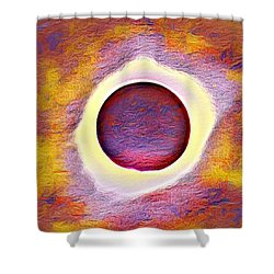 The Aura Of The Eclipse Shower Curtain