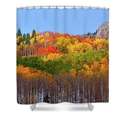 The Autumn Blanket Shower Curtain by John De Bord