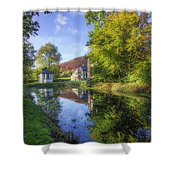 Shower Curtain featuring the photograph The Autumn Pond by Ian Mitchell