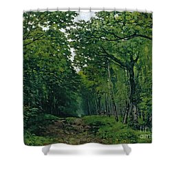 The Avenue Of Chestnut Trees Shower Curtain by Alfred Sisley