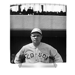 The Babe - Red Sox Shower Curtain by International  Images