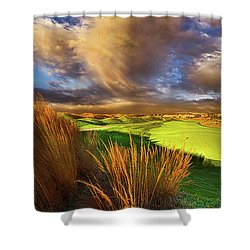 The Back Nine Shower Curtain by Phil Koch