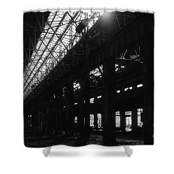 The Back Shop Shower Curtain by Richard Rizzo