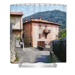 The Back Street Towards Home Shower Curtain by Jeff Kolker