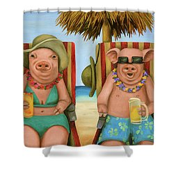 The Bacon Shortage 2 Shower Curtain by Leah Saulnier The Painting Maniac