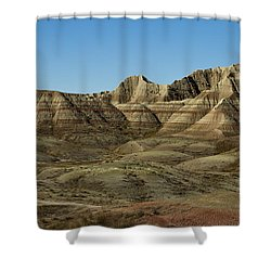 The Bad Lands Shower Curtain