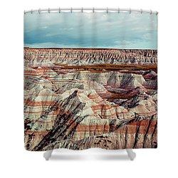 The Badlands Of South Dakota I Shower Curtain by Tom Mc Nemar