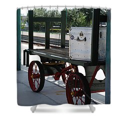 The Baggage Cart And Truck Shower Curtain by Rob Hans