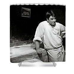The Baker Shower Curtain by Dave Bowman