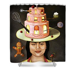The Baker Shower Curtain by Leah Saulnier The Painting Maniac