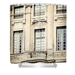 Shower Curtain featuring the photograph The Balcony by Jason Smith