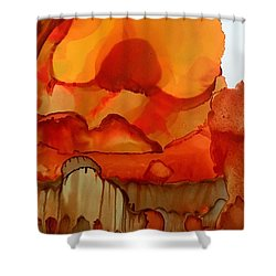 The Ball Of Fire Shower Curtain