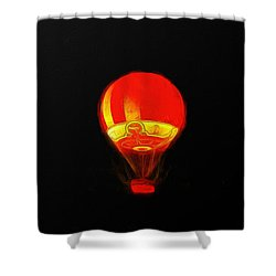 The Balloon At Night - Pa Shower Curtain